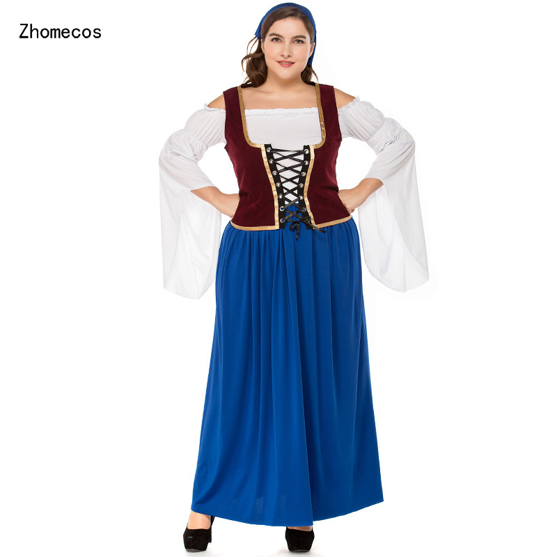 2018 Women's Oktoberfest Sweetie Inga Pirate Costume Halloween for Bavarian tradition Beer Waitress Maid Costumes Plus Size