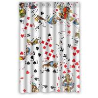 Popular Playing Cards Polyester Bathroom Custom Shower Curtain Bathroom Decor Polyester Shower Curtain 66(W)x72(H) Inch