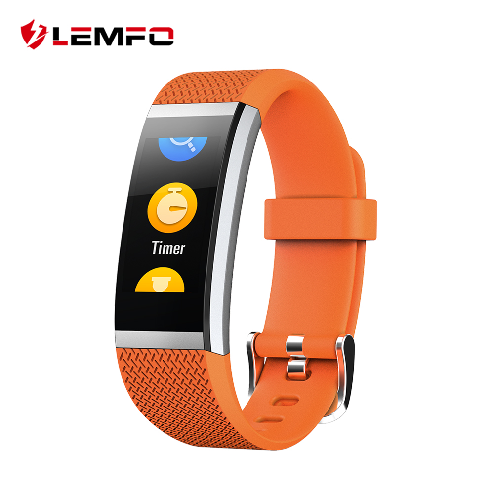 LEMFO Fitness Bracelet For Huami Smart Band IP67 Waterproof 0.96 Inch Full Fit Color IPS Display Heart Rate Monitor