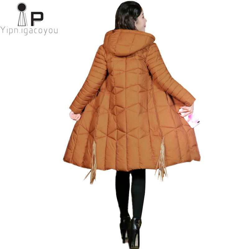 Womens Down Jacket New High Quality Women Winter Jacket Hooded Plus Size Thicken Long Parka Fashion