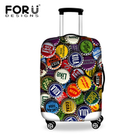 FORUDESIGNS 2017 Novel Design Travel Accessories Waterproof Anti-dust Luggage Protective Cover For 18''-30''Suitcase Rain Cover