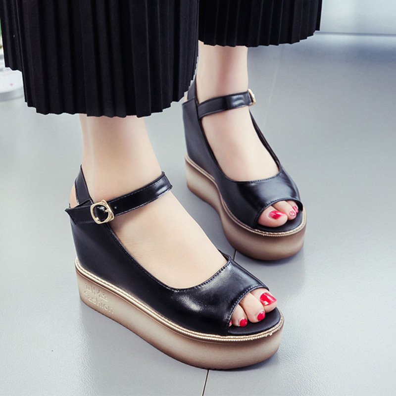 2017 New Women Flip Flops Platform Gladiator Wedges Sandals Summer Casual Sandals Shoes Woman Slip On Creepers lanshulan wedges gladiator sandals 2017 summer peep toe platform slippers casual glitters shoes woman slip on flats creepers