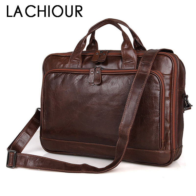 Large Size Genuine Leather Men Bag Fashion Cowhide Men s Business Laptop Messenger Bags Male Tote