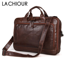 цена на Large Size Genuine Leather Men Bag Fashion Cowhide Men's Business Laptop Messenger Bags Male Tote Shoulder Bag Leather Handbag