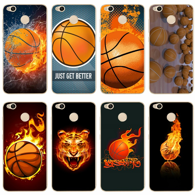 Basketball ball Cover Soft Silicone 2018 TPU Phone Case For xiaomi 4 5 6 6X 8 note3 miX2S for redmi4A 4X 5 5a 5Plus note4 4X 5