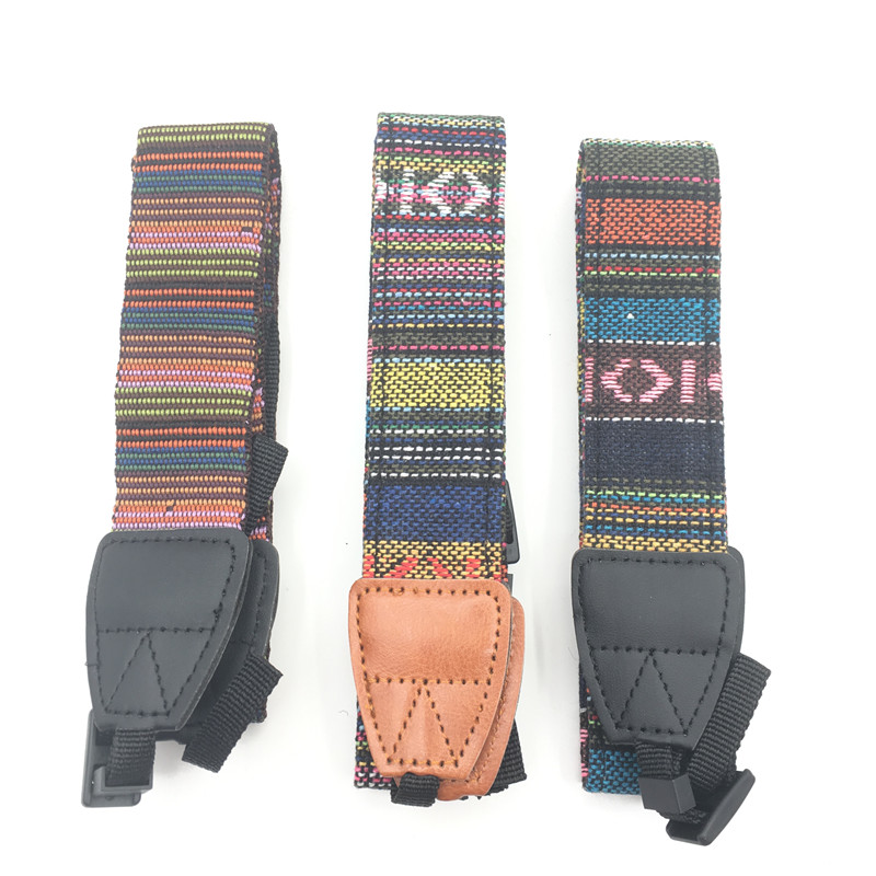 Special Section Universal Color Stripes Camera Strap Soft Red Neck Shoulder Strap Belt Grip For Nikon Canon Panasonic Sony Pentax Camera Reliable Performance