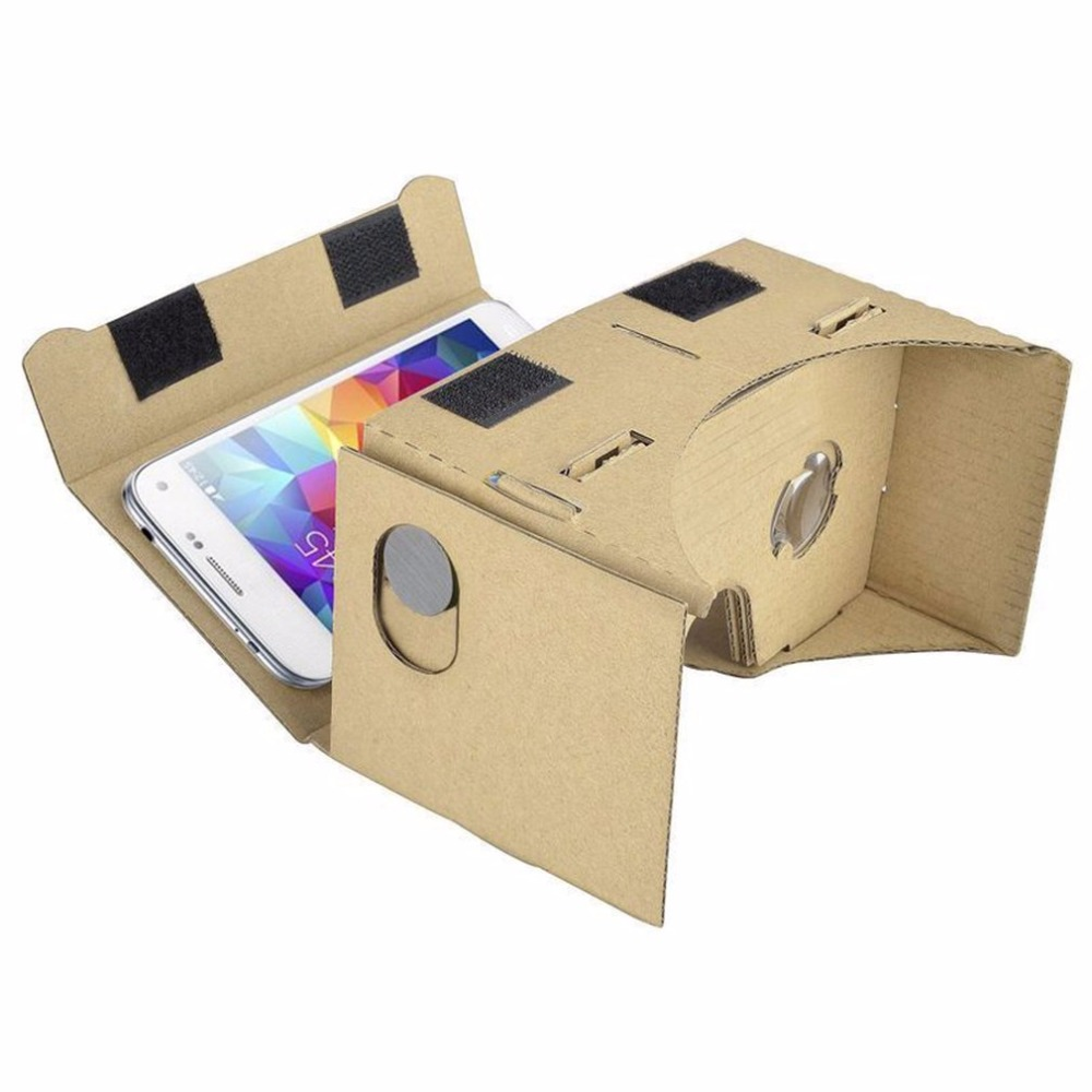 DIY Cardboard Ultra Clear 3D Virtual Reality Glasses For SmartPhone Computer Portable Video Glasses Cardboard