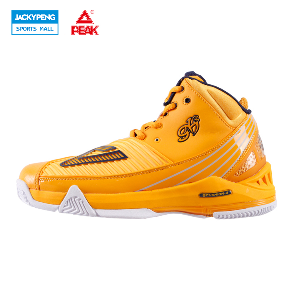 PEAK SPORT Star Series George Hill GH3 Cool Orange Men Basketball Shoes CUSHION-3 NON-MARKING Tech Sneaker EUR 40-50 peak sport speed eagle v men basketball shoes cushion 3 revolve tech sneakers breathable damping wear athletic boots eur 40 50