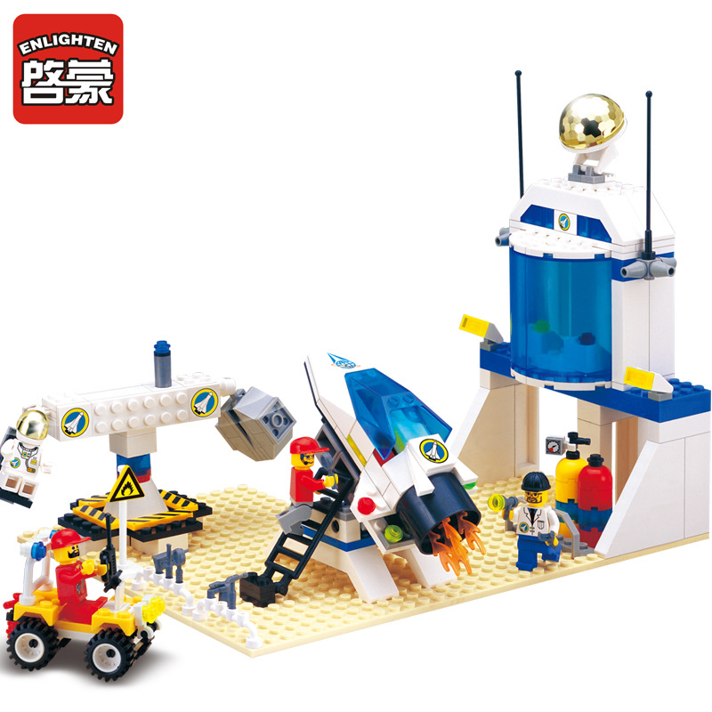 Enlighten Model Toy Compatible with Lego E513 292Pcs Astronaut Test Base Model Building Kits Toys Hobbies Building Model Blocks