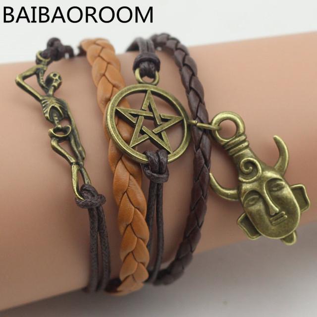 Supernatural Amulet Leather Bracelet