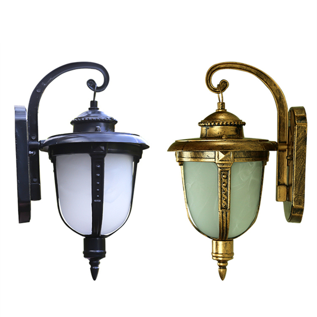 Luxury modern light iron wall lamp for aisle yard corridor for Luxury outdoor lighting