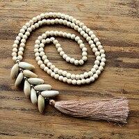 Мм 6 мм белый камень ожерелье из бисера с ручной работы натуральный корпус кисточка длинное ожерелье для женщин ювелирные изделия