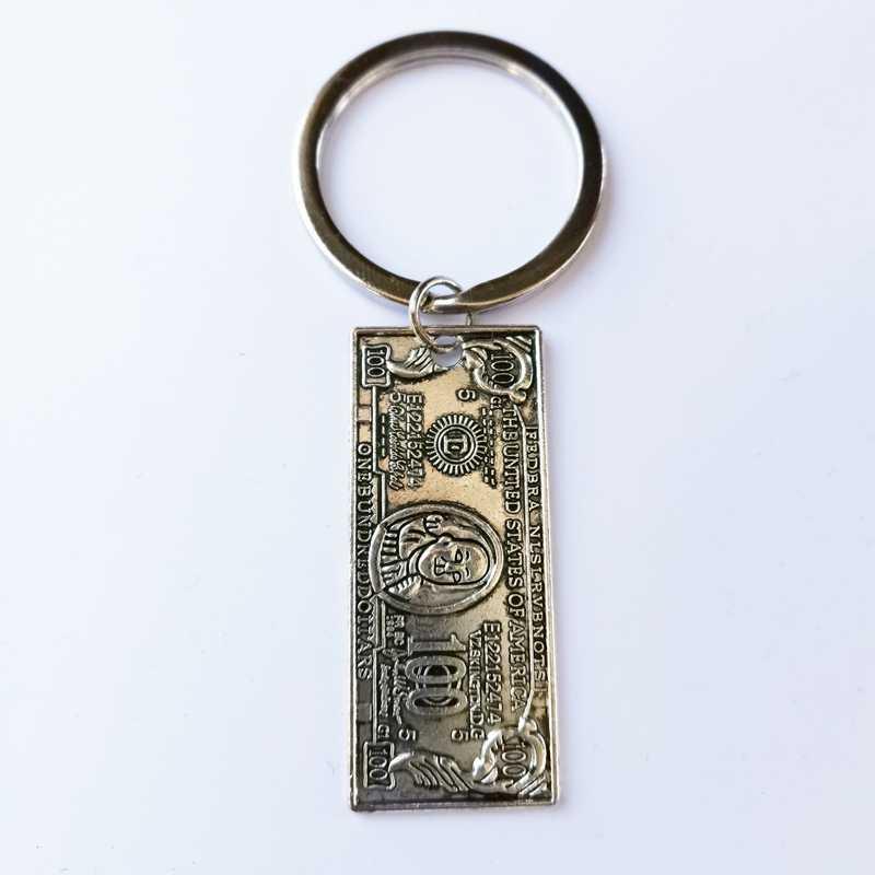Nowa moda brelok do kluczy 41mm dolar klucz wisiorek DIY mężczyźni i kobiety biżuteria brelok samochodowy urok prezent pamiątka prezent