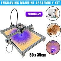7000mW Laser Engraving Machine CNC Laser Engraver Cutter DIY Logo Mark Printer Machine Kit Part 35x50cm Engraving Range