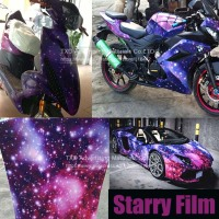 Free shipping 1.52*30M Starry sky bomb sticker with air free bubbles with strong stretchable