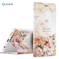 Luxury PU Leather 3D Relief Printing Stereo Feeling Smart Flip Cover Case For Huawei P9 Plus