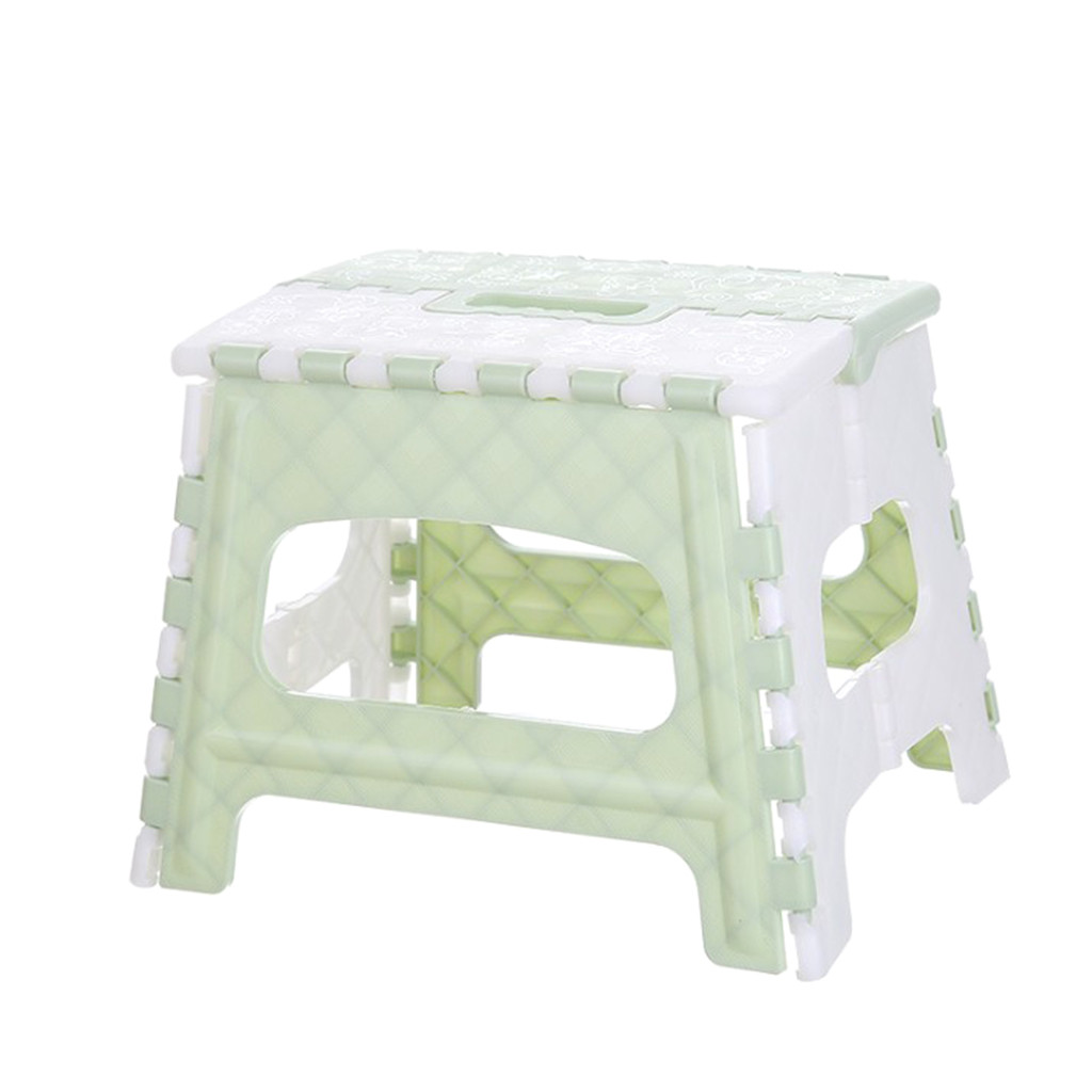 Plastic Multi Purpose Folding Step Stool Home Space Saving Outdoor Storage Foldable Seat Strong Load Bearing 4.516-4