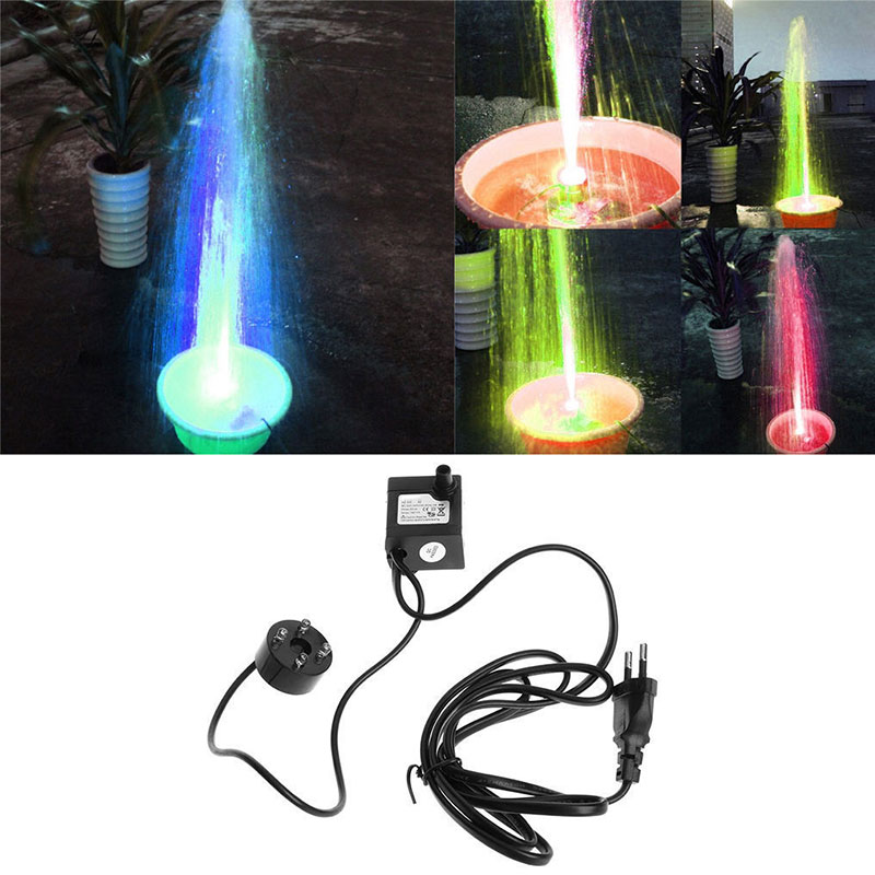 Fountain Pond  Lamp Aquarium Fountain Fountain Pool Lights Colorful Electric Submersible Fashion Party Pond Fish LED Pool Lights