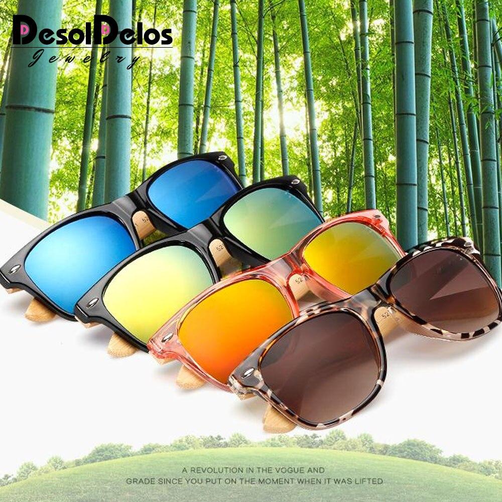 17 color Wood Sunglasses Men women square bamboo Women for women men Mirror Sun Glasses retro de sol masculino 2019 Handmade in Men 39 s Sunglasses from Apparel Accessories