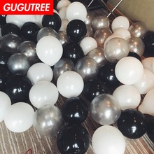Decorate 100pcs 12inch black pink blue green latex balloons wedding event christmas halloween festival birthday party PD-136