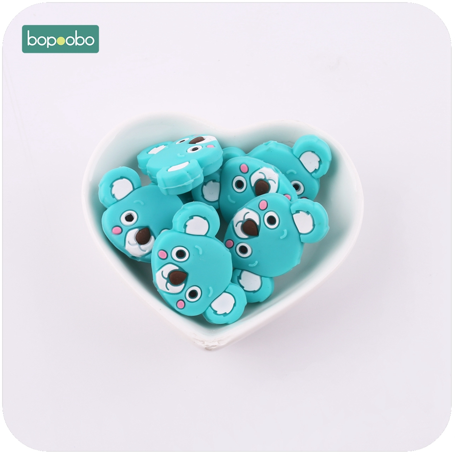 Bopoobo Baby Silicone Mini Koala 3pc Food Grade Teether DIY Jewelry Nursing Accessories Silicone Bead Baby Teether