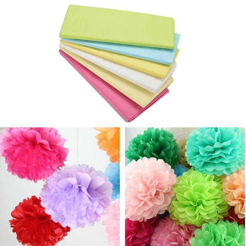Wrapping paper flower yelomdiffusion 20pcs pack tissue paper flower wrapping paper gift packaging craft mightylinksfo