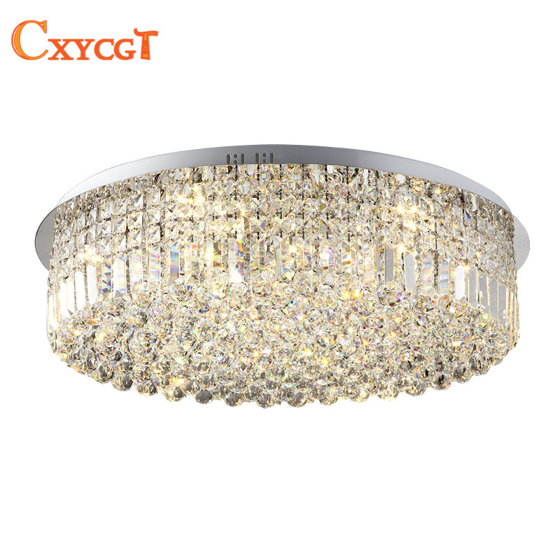Modern K9 Led Crystal Ceiling Lights for Bed Room Living Room Kitchen Round Ceiling Lamps For