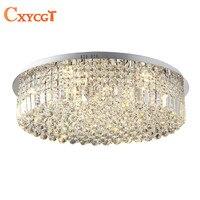 Современные K9 Led Кристалл Потолочные светильники для кровати гостиная кухня круглые потолочные лампы украшения дома освещение