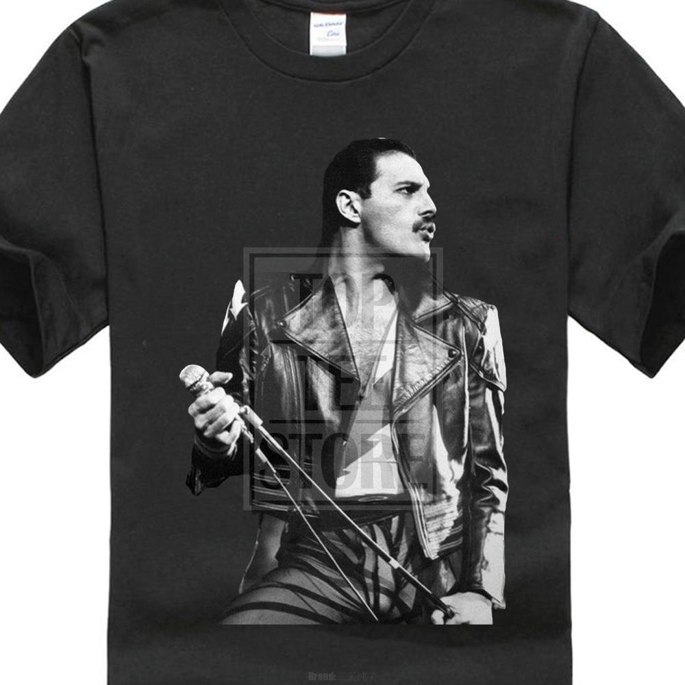 Freddie Mercury Queen British Rock Legend Men'S Gildan T Shirt Black S To 4Xl