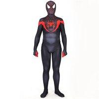 New Superhero Ultimate Miles Morales Spider Man Cosplay Costume 3D Printing Fullbody Halloween Spiderman Cosplay Jumpsuits