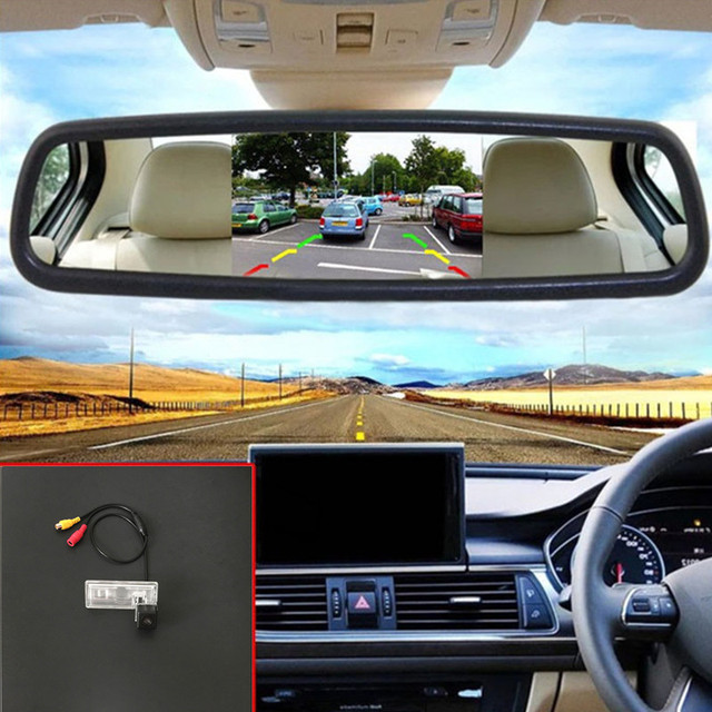 Neo Baleno: 2 In 1 Parking Assistance Car Rear View Camera + 5'' TFT