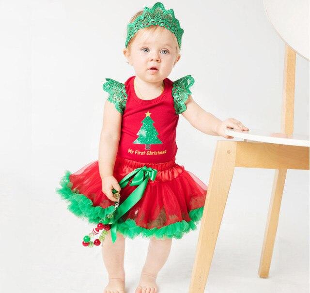 Baby Girl First Xmas Costumes Fashion Christmas Tree Print Bodysuits+lace tutu skirts+headband  sc 1 st  AliExpress.com & Baby Girl First Xmas Costumes Fashion Christmas Tree Print Bodysuits ...