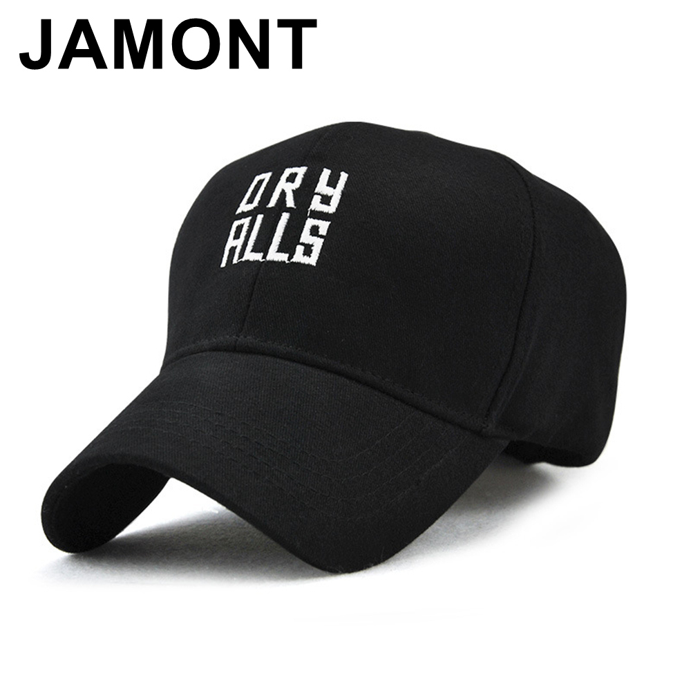 JAMONT Letters Embroidery Baseball Cap Casual Cotton Golf Sun Hat Men Women Curved  Visor Snapback Hats Brand Strapback Polo Caps 7378f7800ce