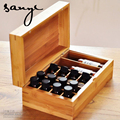 Caja de Aceite de Aceite Esencial puro de Madera Maciza De Bambú Caja De Almacenamiento Caja de Almacenamiento de 18