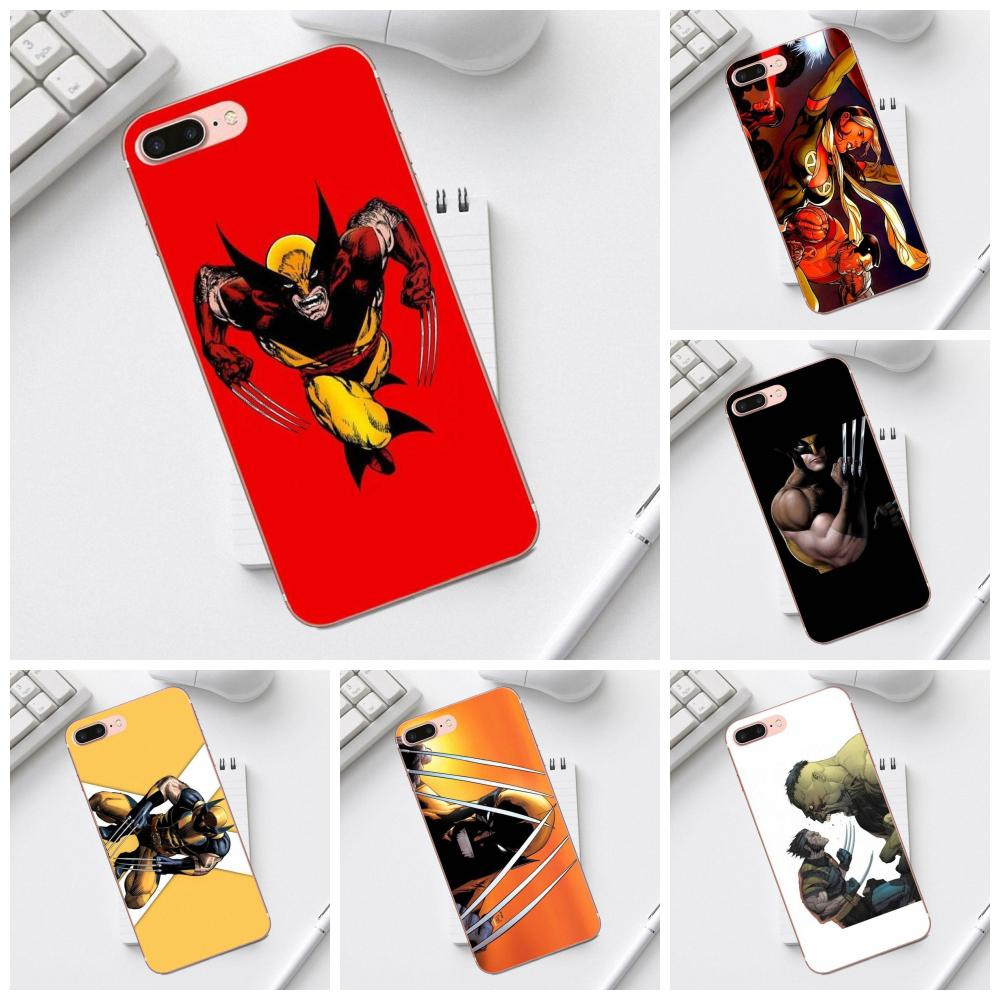 Wolverine Comics For Galaxy Alpha Core Prime Note 4 5 8 S3 S4 S5 S6 S7 S8 S9 mini edge Plus Soft TPU Art Online Cover Case image