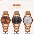 BOSCK-2056 reloj de los hombres y de negocios de lujo de oro rosa reloj de cuarzo de moda, calendario reloj de la marca, de gama alta reloj ocasional