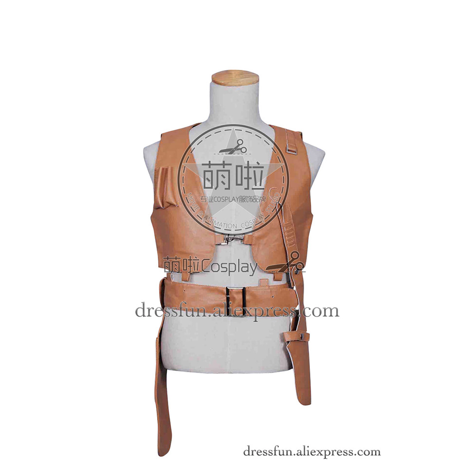 Leon: The Professional Cosplay Leon Costume New Cool Yellow Leather Vest Halloween Fashion Party Fast Shipping