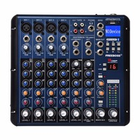 Freeboss SMR8 4 Mono + 2 stereo 8 channels 16 DSP good quality hot sell Bluetooth USB Play Record professional audio dj mixer