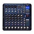 Freeboss smr8 4 mono + 2 estéreo 8 canais 16 dsp boa qualidade venda quente bluetooth usb play record profissional dj de áudio mixer