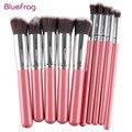Bluefrag 10 pcs pincéis de maquiagem de alta qualidade beleza cosméticos fundação mistura de blush make up brush tool kit set
