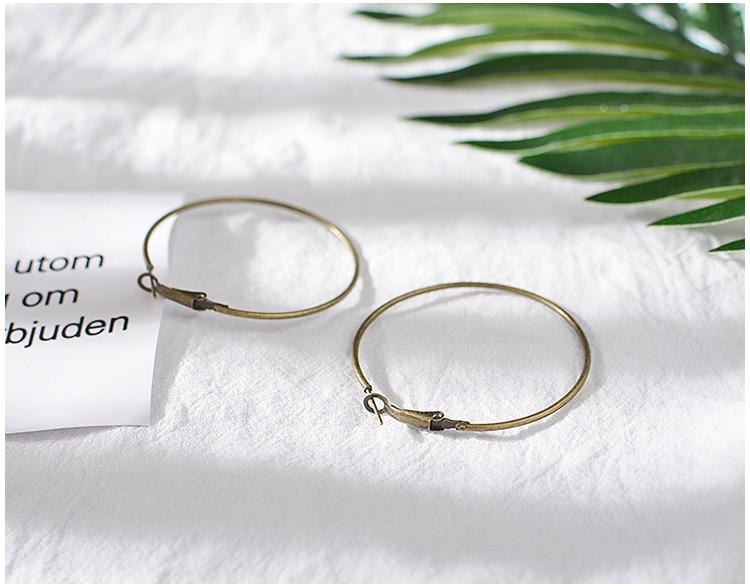 12PCS Diameter:20MM Antique Bronze Iron Hoop Earrings Diy Handmade Jewelry Findings Accessories Wholesale