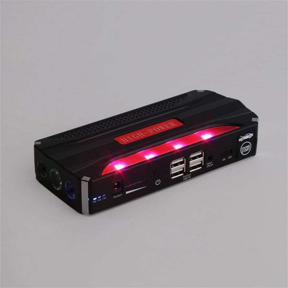 68800mAh Portable Auto Jump Starter Car Emergency Charger Booster Power Bank Battery 12V Starting Device 12v mini portable 82800mah led car jump starter engine auto emergency starting device power bank car phone charger with 4usb