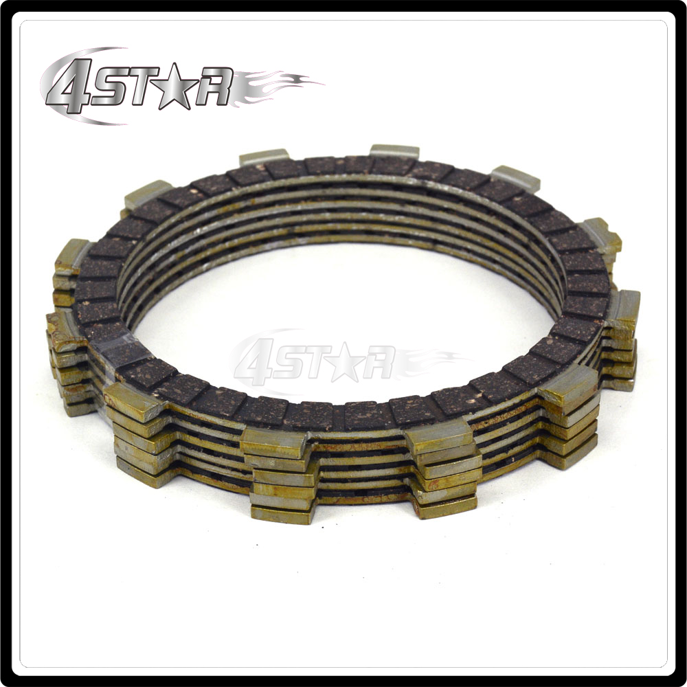 Motorcycle clutch plate disc set friction for suzuki rm125 ts125r tv125 df200e dr200 dr200se rv200 rv200z