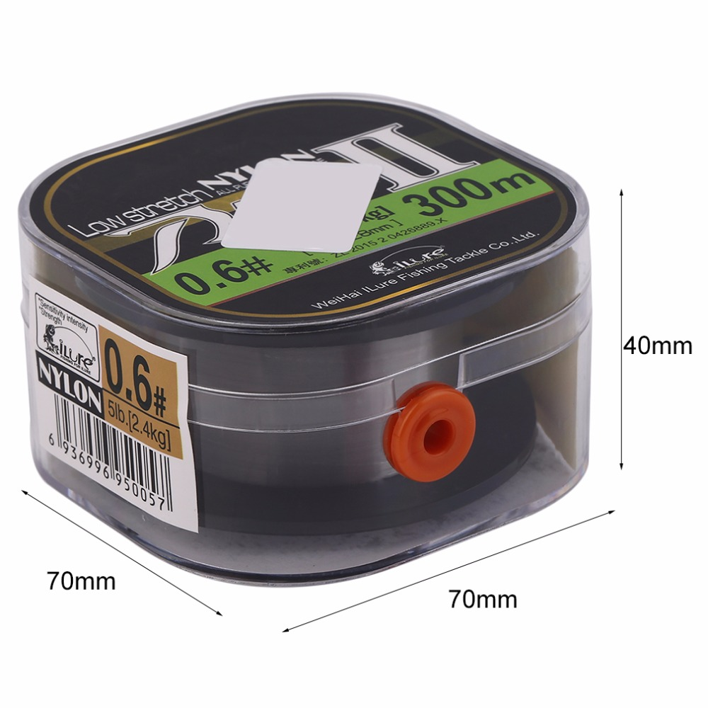 Ilure 1roll Nylon 300m/260m Super Strong Knot Strength Fishing Line 17LB Fish For Saltwater Carp Lure Fishes Angling Accessory
