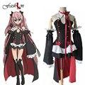 6 unids/set mujeres de halloween cosplay dress krul tepes serafín de finales de animación ropa cosplay vampire trajes de rendimiento