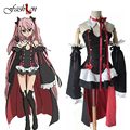 6Pcs/Set Halloween Women Cosplay Dress Krul Tepes Cosplay Costume Seraph of The End Animation Clothes Vampire Performance Suits
