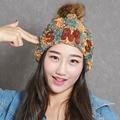 Women Cap Hats With Ball Velvet Knitted Autumn Winter Gorros Beanie Female Hat Femme Toucas de Inverno feminina Women's Hats