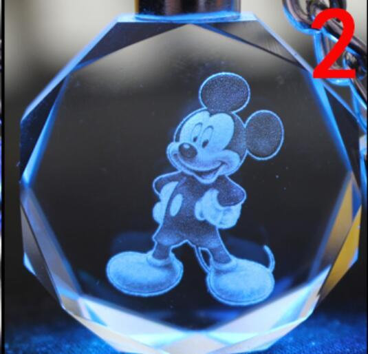 Брелок светодиодный кристалл Микки Маус в ассортименте 2