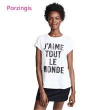 J Aime Tout Le Monde camiseta 2018 mujer camiseta verano Mujer camiseta  Casual Oversize algodón blanco Tops camisa Mujer d6c76db00bf