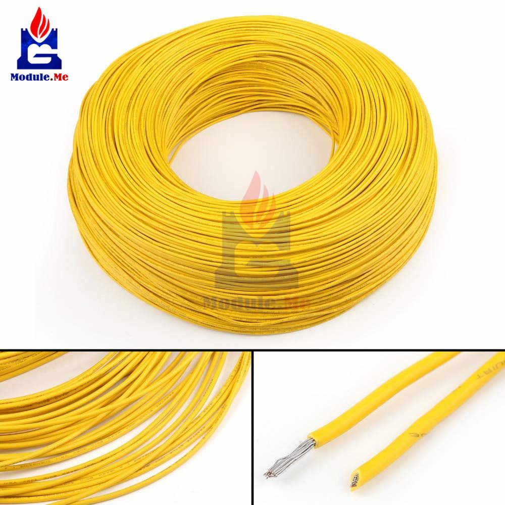 Гибкий многожильный UL-1007 24 AWG электронный провод ПВХ кабель желтый 10 м 300 в провод кабель
